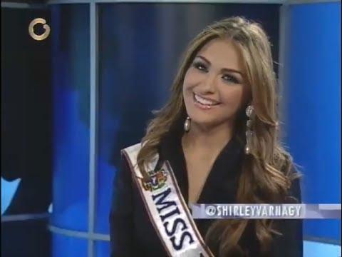 Miss Venezuela 2013, Migbelis Catellano entrevistada en Globovision por Shirley
