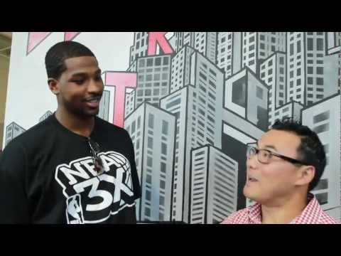 One-on-one with Tristan Thompson at Future Shop