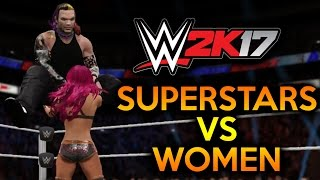 How To: Men vs Women in WWE 2K17 - Intergender Match - Superstars vs Women ✦ 【WWE 2K17 EXPOSED】