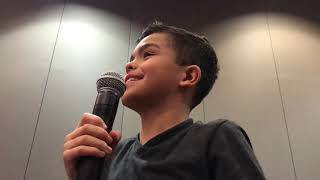 Michael asking a question at Pet Sematary Panel Horrorhound 2019