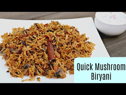 Mushroom Biryani - Telugu Cooking Videos