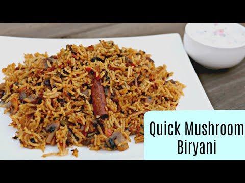 Mushroom Biryani - Telugu Cooking Videos