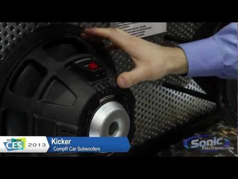 Kicker CompR Car Subwoofers (The New CVR!)   CES 2013