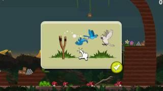 Angry Birds Rio - Golden Fruit Banana Walkthrough Level 4-15 Nigel White Bird Boss New Blue Birds