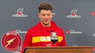 Patrick Mahomes is comfortable with leaving the pocket (AFC Championship 2019)