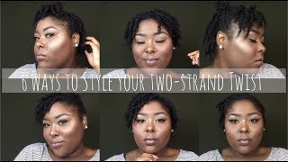 6 ways to style two-strand twist | 2018