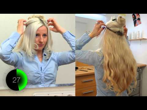 Flip-In Extensions von Xtend-your-Hair - Haarteil mit Nylonfaden - So gehts Tutorial