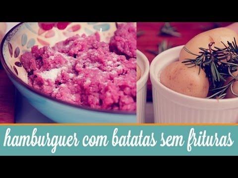 Hambúrguer com batatas sem frituras  | Cozinha para 2