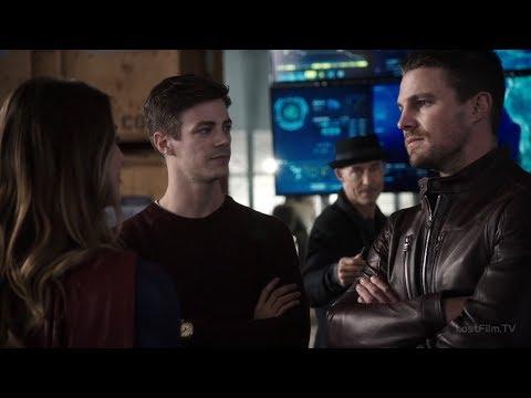 Супергёрл знакомится с Командой Стрелы и Легендами | Флэш (3 сезон 8 серия)