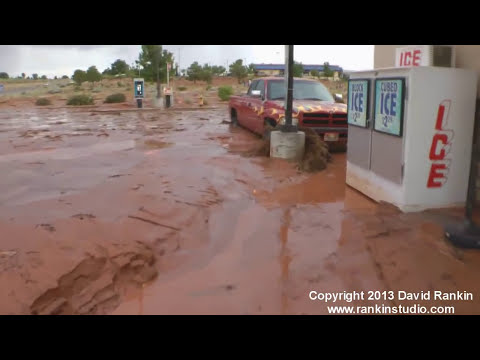 Insane Flash Flooding, Antelope Canyon and Page Arizona. August 2nd, 2013