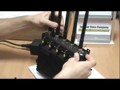 RCJ40 D 5 band cell phone jammer, gps, wifi, 3G blocker.mp4