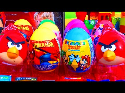 12 Surprise Eggs Easter Edition Disney Marvel Spider-Man Hello Kitty Super Mario Bros Angry Birds