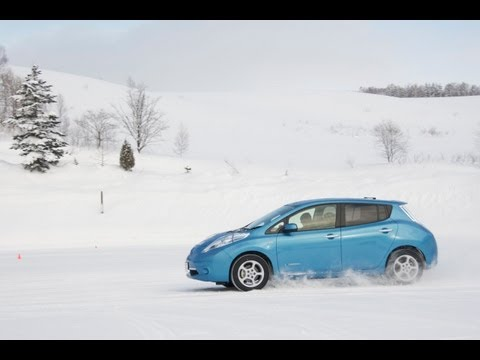 The Nissan LEAF proves slick in wintry test drives in northern Japan