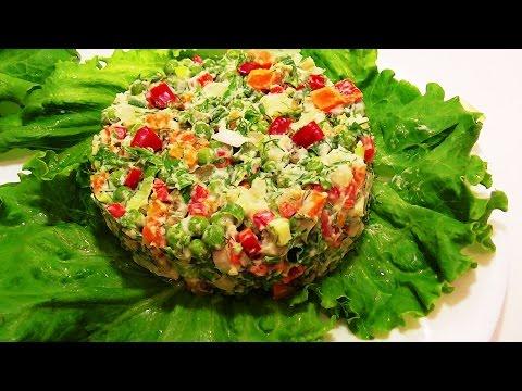 Самые лёгкие салаты из овощей фото