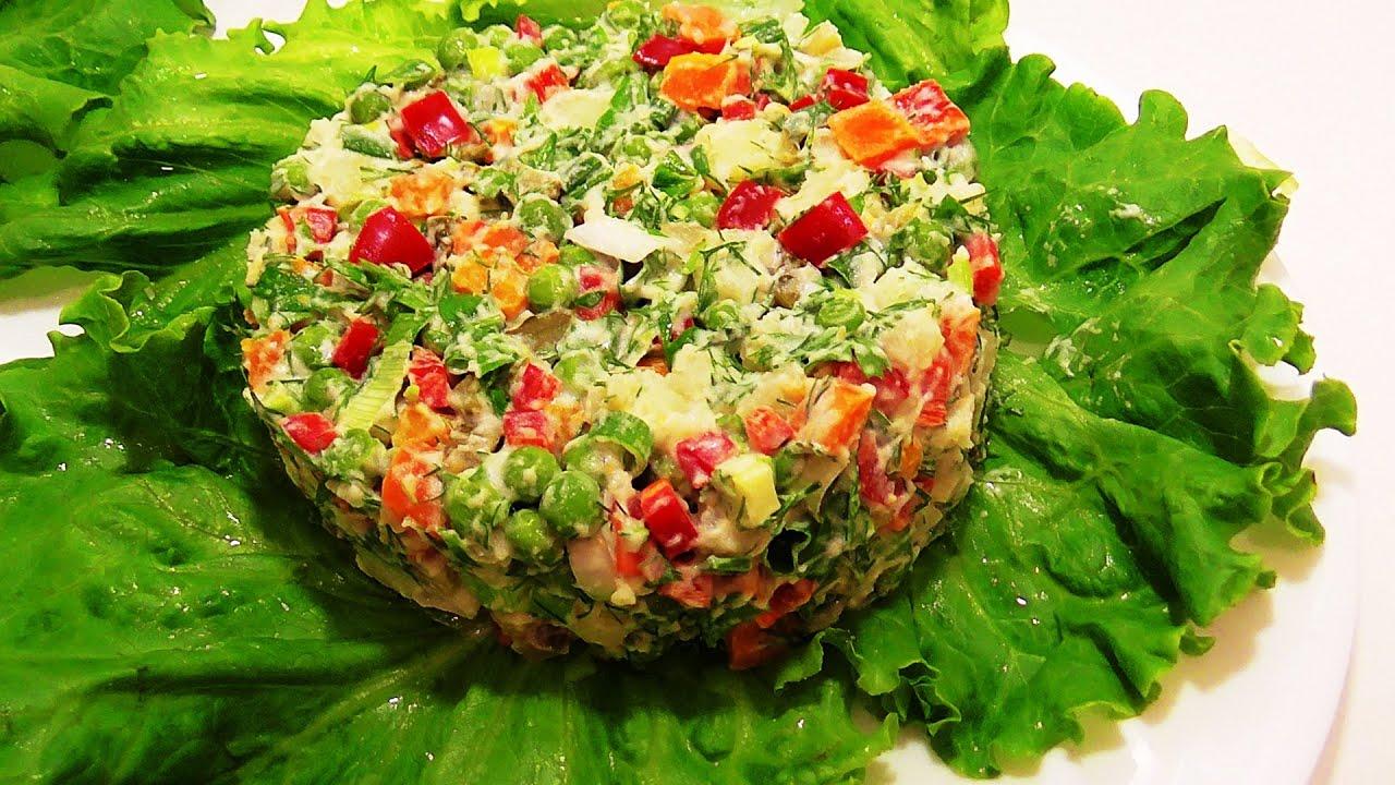 Простые салаты с овощами рецепты