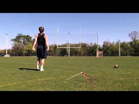 LANDON SCHEER - CLASS OF 2014 KICKER - THE FIRST ACADEMY- FIELD GOAL SKILLS FOOTBALL - 05/13/2013