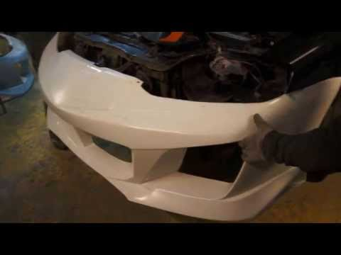 Tuning Hyundai Coupe - Tiburon - Instalation Warrior Mussa body kit