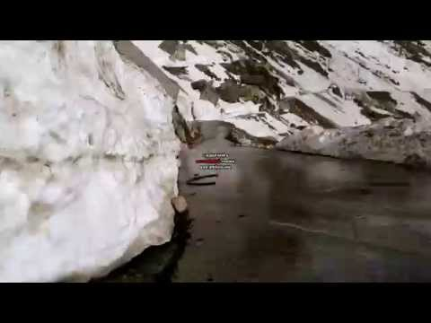 rohtang pass, himachal pradesh, bike, snow, ice