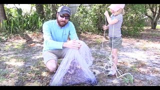 How To Throw A 4ft Cast Net Without Using Your Mouth [Easy Method]