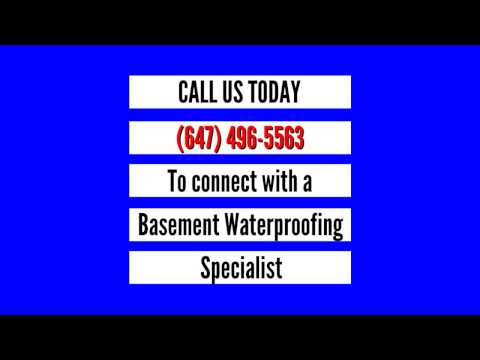 Toronto Basement Waterproofing | 647 496 5563