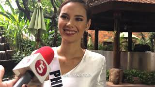 Catriona Gray a day before Miss Universe, on Tyra Banks, Miss U controversy & win or lose