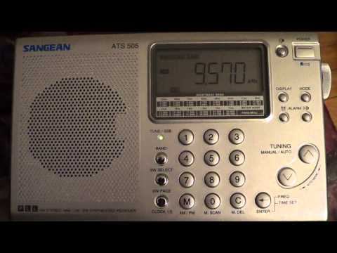 China Radio International on Sangean ATS 505 Shortwave portable