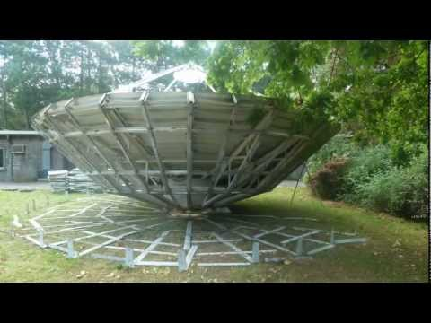 De-installation of a Vertex 9m Earth Station Antenna by Skybrokers International