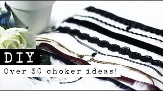 DIY Chokers | 6 Styles! Over 30 Variations! Bolo Wrap, Minimal, Circle, Pendant | Raylene Harvey