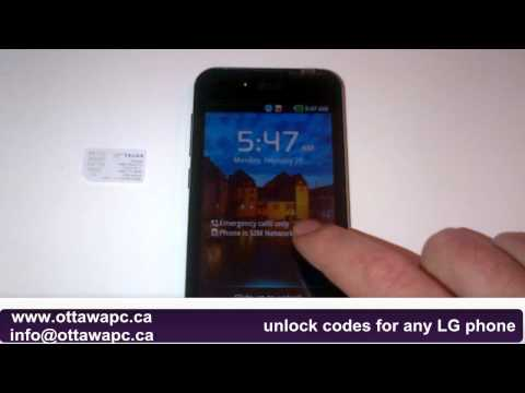 How to Unlock LG Optimus Black P970 2X P990 LTE Telus Rogers any network