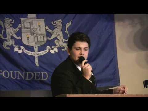 Nick's speech at Brighton Academy graduation, June 4, 2009.