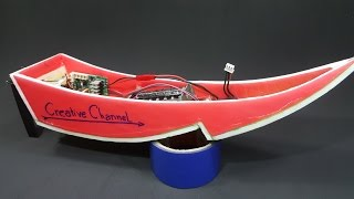 Make RC Boat With V12 Coreless Motor - Thai Long Tails Boat