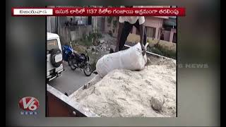 Weed Lorry | Vijayawada Police Caught Sand Lorry Carrying Ganja Worth 2 Crores