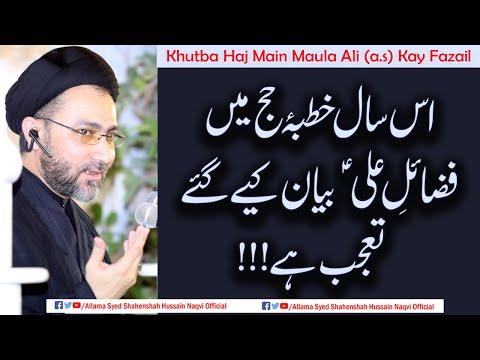 Khutba Haj Main Maula Ali (a.s) Kay Fazail !! | Allama Syed Shahenshah Hussain Naqvi