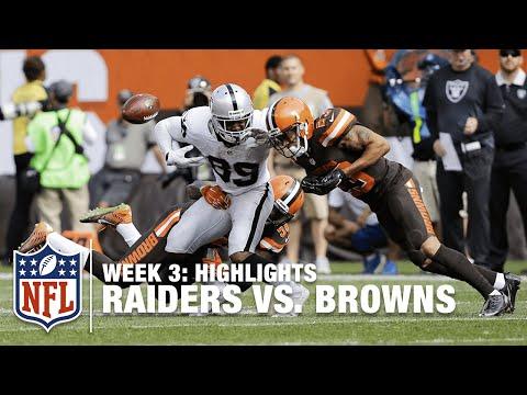 Raiders Vs Browns Week 3 Highlights Nfl