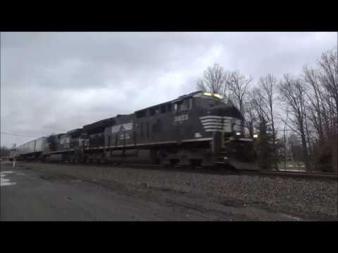 NS Tier 4 ET44AC #3623 K5HLR2 Horn & NS Dash 9 #9210 Lead Intermodal 24M In Rootstown Ohio Jan 2018