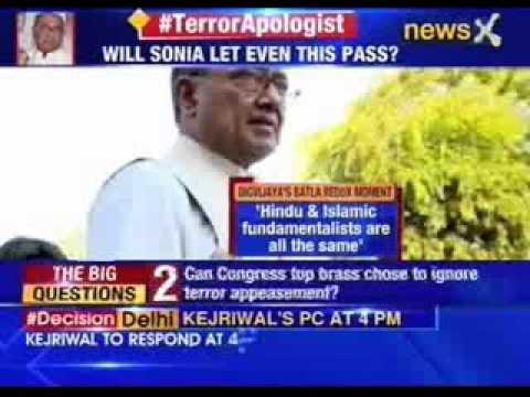 NewsX Exclusive: After Aiyer, Digvijaya Singh justifies terror
