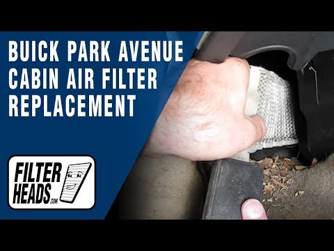 Cabin air filter replacement - Buick Park Avenue
