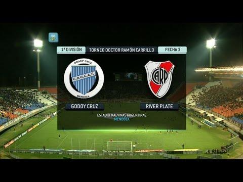 Fútbol en vivo. Godoy Cruz - River. Fecha 3. Primera División 2014. FPT