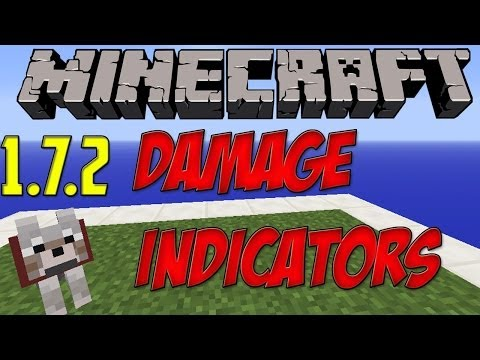Minecraft 1.7.2 PC Mods: Damage Indicators [Descargar E Instalar] HD