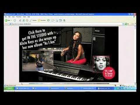 Alicia Keys MySpace Hack