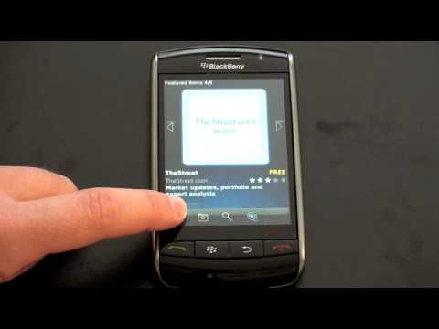 Video: Blackberry App World - Demonstration