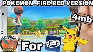 POKEMON RED FIRE VERSION ROM FOR GBA ANDROID || Download [Rom+EMULATOR] ||