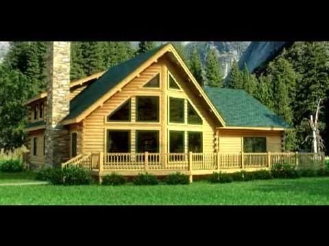 Casas de madera maciza modelo alpine en 3d youtube - Modelos de casas de madera ...
