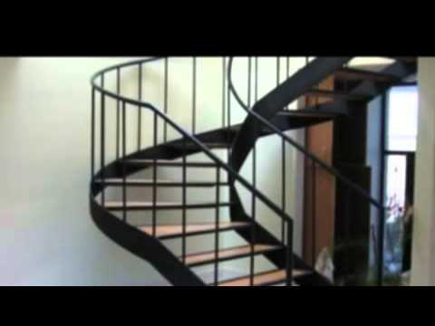 Herreria roanca c a escaleras metalicas youtube for Escalas metalicas