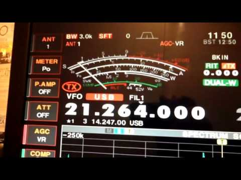 Ham Radio Station G0SEC working A61LL on ICOM 7800