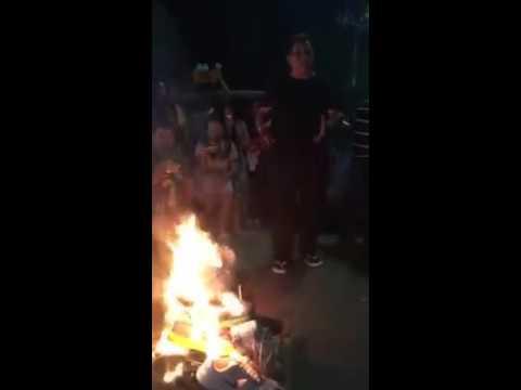 Cebuano burn nike shoes to boycott nike