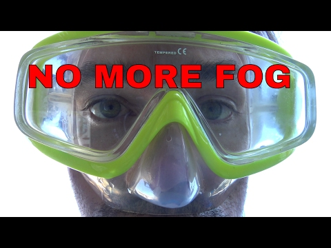How to make your diving mask not fog - Stop scuba diving mask from fogging