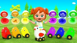 Little Baby Girl Fun Play Learning Colors & Shapes for Children with Bird Toy Eggs Shapes 3D Kids