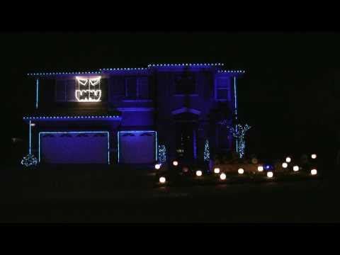 Halloween Light Show 2010 HD - Kidnap the Sandy Claws ( Nightmare Before Christmas ) Music Videos