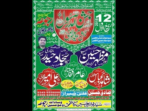 ???? Live Jashan Milad un Nabi | 12 Rabiulawal 2018 Rajoa Sadat Mandi ( www.Gujratazadari.com )